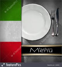 illustration of italian restaurant menu design