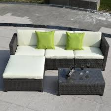 Sofa Furniture 5pc Outdoor Patio Sofa Set Furniture Pe Wicke U2026 Gardenspassion Com