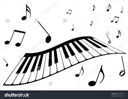 100 piano key notes colorful piano keyboard with trees and