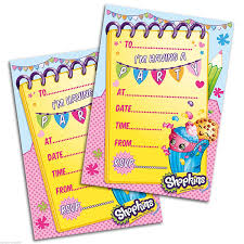 official shopkins party invites pack of 20 amazon co uk toys u0026 games