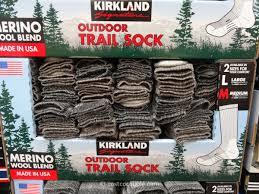 kirkland signature men u0027s merino wool blend trail socks