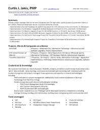 Project Resume Curtis Janis Project Profile Resume 20160719 Latest