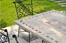 Marble Patio Table Ta 78 94 Mosaic Marble Garden Patio Table Craftsman