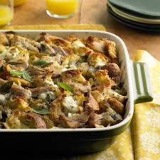 pork roast strata with green chiles and goat cheese pork recipes