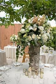 rustic center pieces 20 rustic wedding centerpieces with bark container deer pearl