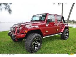 2007 red rock crystal pearl jeep wrangler unlimited x 4x4