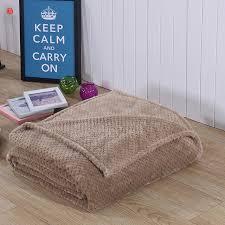 ou jeter un canapé accueil textile chameau polaire couverture solide chaud brun doux