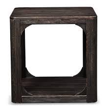 Prentice Bedroom Set In Black Prentice Square End Table Weathered Black Value City Furniture