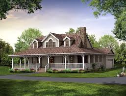 homes with wrap around porches country style round designs