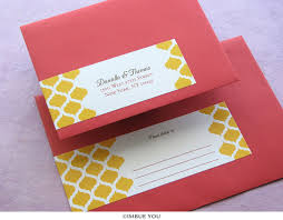 Wedding Invitations India Indian Wedding Invitation Envelopes Yaseen For