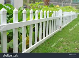 white picket fence flower bed stock photo 26750677 shutterstock