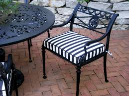 black and white striped outdoor chair cushion traditional