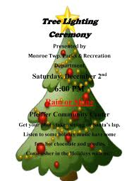 tree lighting flyer 2017 township parks and recreation