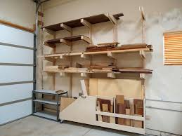 Wooden Storage Shelves Diy by Lumber Storage Rack Dust Collection Lumber Rack And Cabinets