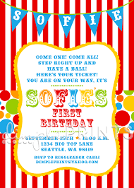 first birthday circus circus carnival birthday printable invite dimple prints shop