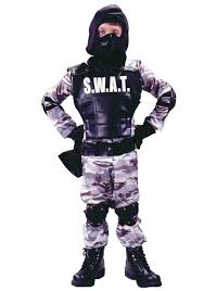 Boys Army Halloween Costume Unisex Swat Costume Kids Costumes
