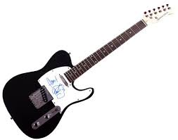 jamie hewlett autographed murdoc sketch gorillaz tele guitar aftal