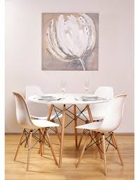 seine 100cm round dining table white dining tables u0026 chairs