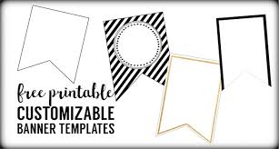 free printable banner templates blank banners paper trail design