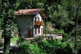 small country house in the forest italy stock photo picture and