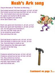 a list of the best preschool bible songs including words and