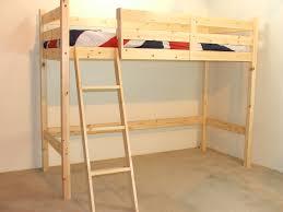 Ft Single SHORT LENGTH Pine LOW Loft Bunk Bed NO BOOKCASE - Small single bunk beds