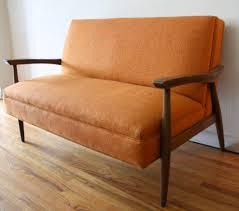 mid century modern loveseat leather fashionable mid century