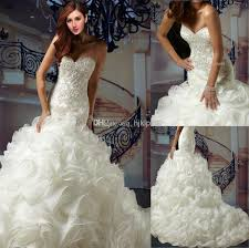 cheap plus size wedding dresses discount organza applique beaded