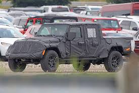 jeep truck spy photos spy shots 2019 jeep wrangler pickup truck details trucks com