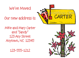 moving announcements new address cards