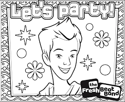 coloring pictures of fresh beat band coloring pages printable fresh beat band coloring