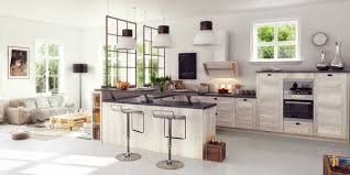cuisine blanche ouverte sur salon enchanteur cuisine blanche ouverte sur salon avec cuisines santos