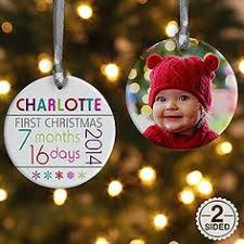 personalized christmas ornaments baby so personalized baby christmas ornament upload one of