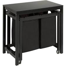 wooden folding table walmart honey can do wood laundry sorter and folding table with 2 bags
