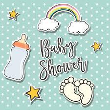 baby shower background design vector free