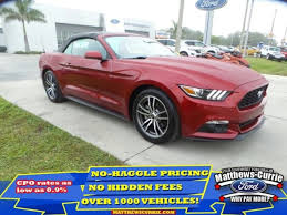 pre owned ford mustang convertible used 2017 ford mustang for sale nokomis fl