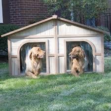 boomer u0026 george wood dog house with free dog doors hayneedle