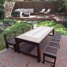 large outdoor dining table home dzine home diy build an outdoor table and benches