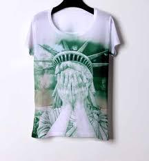 2014 american apparel retro vintage statue of liberty print t