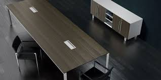 Contemporary Conference Table Conference Table With Integrated Power Data Hdmi