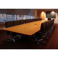 Executive Meeting Table Chicago 26 U0027 Light Oak Veneer Executive Conference Table Office