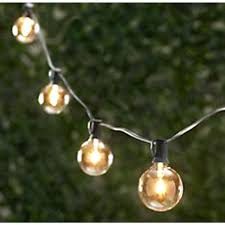 patio ideas globe string lights clear g50 bulbs green wire patio