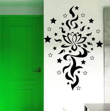 Lotus Flower Wall Decal Om by Wall Decals Lotus Flower Sign Yoga Tattoo Star Art Gym Decor Vinyl