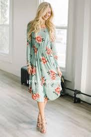 mint pink floral pocket modest dress modest dress for nursing