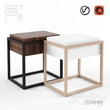 bed and side table set este bed side table 3dsmax tables pinterest tables and