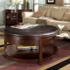 round leather coffee table living room round storage ottoman round leather ottoman round