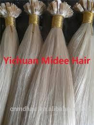keratin tip extensions light brown keratin human hair extensions flat tip 1g pc platinum