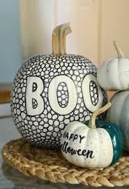 pumpkin black and white pumpkin diy black and white patterned pumpkin with a pop of color