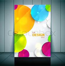 colorful 3d squares business flyer template vector design