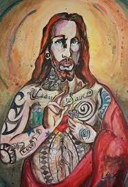 this is a modernised version of jesus as he is represented